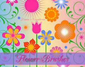 Vector Flower Brushes Photoshop brush