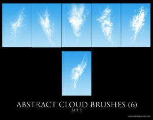 Free Abstract Cloud Brushes set 1 Photoshop brush