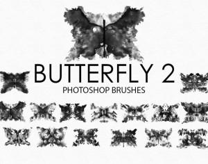 Free Watercolor Butterfly Photoshop Brushes 2 Photoshop brush