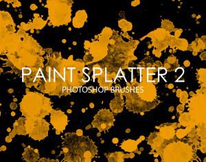 Free Paint Splatter Photoshop Brushes 2 Photoshop brush