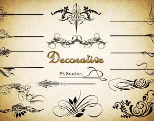 20 Decorative PS Brushes abr. Vol.7 Photoshop brush
