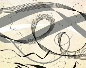 Lines and ribbons Photoshop brush