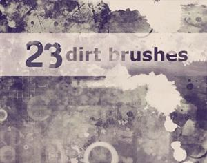 23 Dirt Brushes Photoshop brush