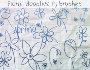 Flower Doodles Brushes Photoshop brush