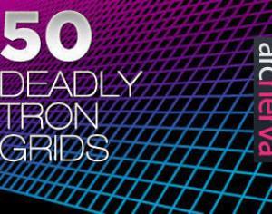 50 Deadly Tron Grids - Arcnerva Photoshop brush