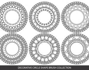 Decorative Circle Shape Brushes Photoshop brush