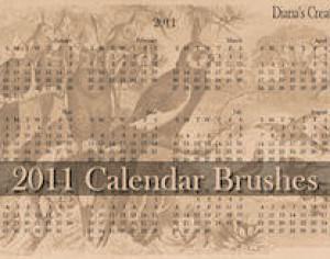 2011 Calendar Brushes Photoshop brush