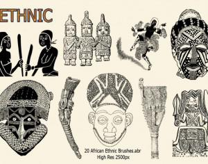 20 African Ethnic Brushes.abr Photoshop brush