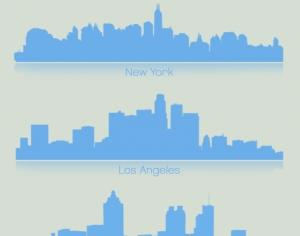 Famous City Skylines Photoshop brush