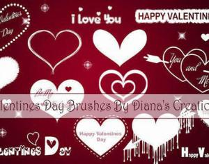 Valentines Day Brushes Photoshop brush