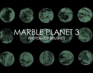 Free Marble Planet Photoshop Brushes 3 Photoshop brush
