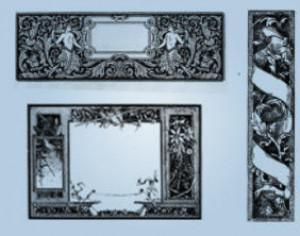 Excellent Ornate Borders  Photoshop brush