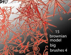 15 brownian model brushes Photoshop brush