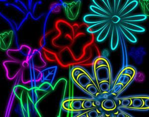 outerspace flowers Photoshop brush