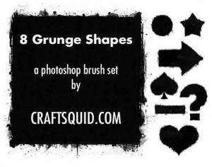 6 Grunge Shape Brushes Photoshop brush