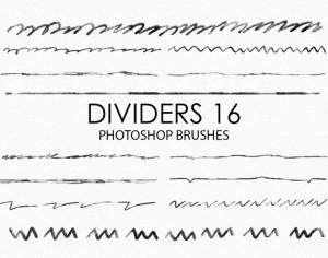 Free Hand Drawn Dividers Photoshop Brushes 16 Photoshop brush