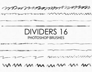 Free Hand Drawn Dividers Photoshop Brushes 16 Photoshop brush