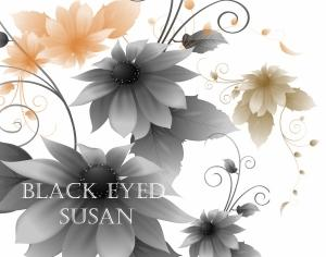 Black-Eyed Susan flower Photoshop brush