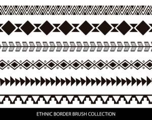 Ethnic Style Border Brushes Photoshop brush