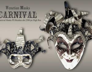 20 Carnival Masks PS Brushes abr.vol.6 Photoshop brush