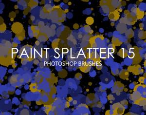 Free Paint Splatter Photoshop Brushes 15 Photoshop brush