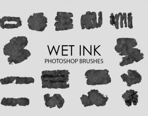 Free Wet Ink Photoshop Brushes 4 Photoshop brush