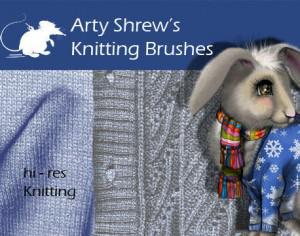 Arty Shrew's Knitting Brushes Photoshop brush