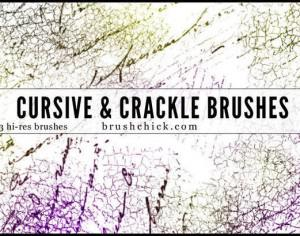 Cursive and Crack Brush Pack Photoshop brush