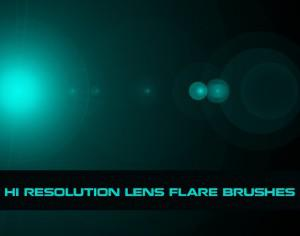 Hi Res Lens Flare Brushes Photoshop brush
