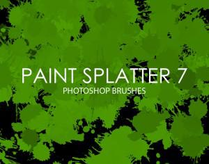 Free Paint Splatter Photoshop Brushes 7 Photoshop brush