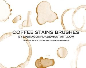 14 Hi-Res Coffee Stains Brushes Photoshop brush