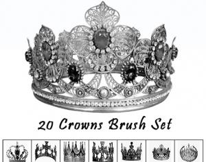 Crowns Brush Set Photoshop brush
