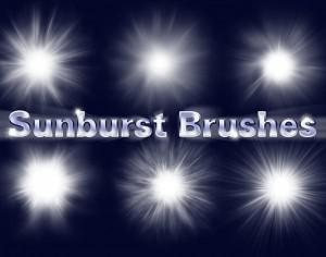 6 Sunburst Brushes Photoshop brush