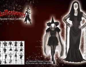 Halloween Female Costume PS Brushes Photoshop brush