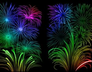 Floral Fireworks Photoshop brush