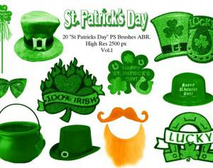 "20 ""St Patricks Day"" PS Brushes abr.Vol.1 Photoshop brush"