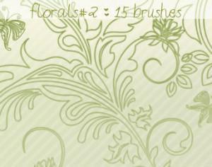 Floral Brushes 2 Photoshop brush