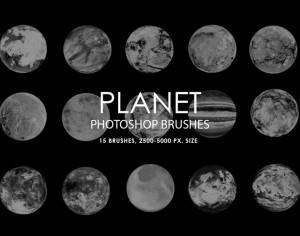 Free Abstract Planet Photoshop Brushes Photoshop brush