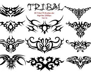 20 Tribal PS Brushes vol.16 Photoshop brush