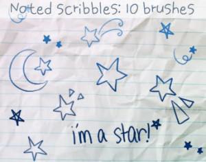 Star Doodles Brushes Photoshop brush