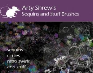 Arty Shrew's Sequins Brushes Photoshop brush