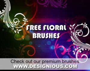 Floral swirls brushes Photoshop brush