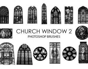 Free Church Window Photoshop Brushes 2 Photoshop brush