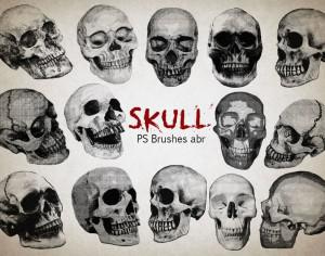 20 Skull PS Brushes abr vol.9 Photoshop brush