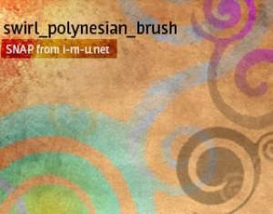 swirl_polynsian_brush Photoshop brush