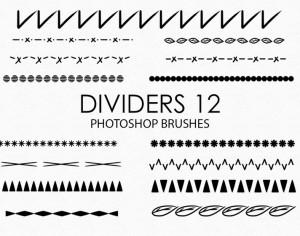 Free Hand Drawn Dividers Photoshop Brushes 12 Photoshop brush