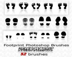 footprint brushes Photoshop brush