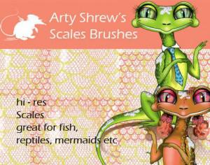 Arty Shrew's Scales Brushes  Photoshop brush
