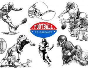 20 Football Ps Brushes abr. vol 7 Photoshop brush