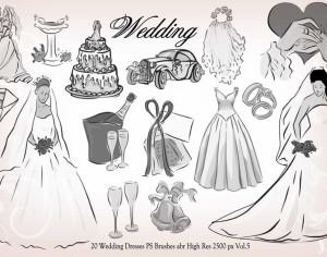 20 Wedding PS Brushes abr vol.5 Photoshop brush